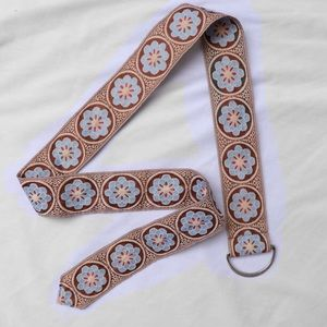 Vintage 70's Floral Fabric Belt